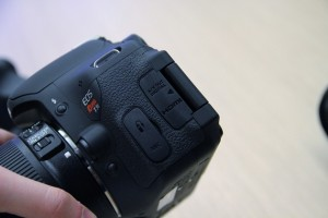 The easy to access ports on the Canon EOS Rebel T3i (600D in Australia) are easy to access and easy to find.